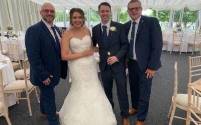 Congratulations Rebecca & John ….